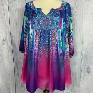 One World Live & Let Live Woman's Top Size Large